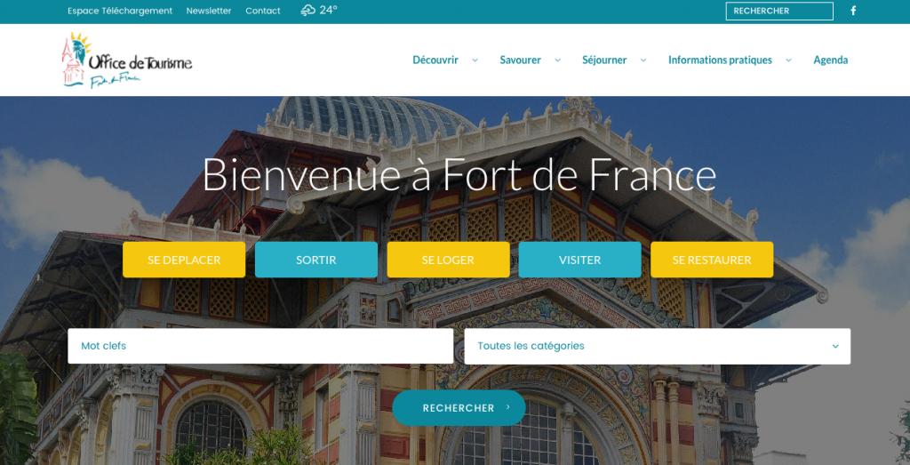 Nouveau site web pour l 39 office de tourisme de fort de france veille tourisme antillesveille - Office de tourisme fort de france ...